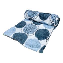 Дизайнерско одеяло плюш Сини кръгове