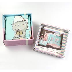 Бебешки спален комплект Котенца - 100% Памук