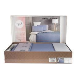 Памучен спален комплект Antrasit - Ранфорс