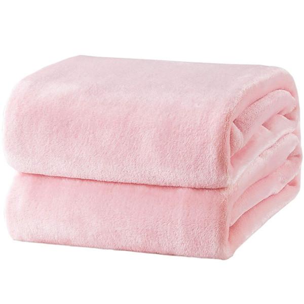 Меко поларено одеяло Есен - розово