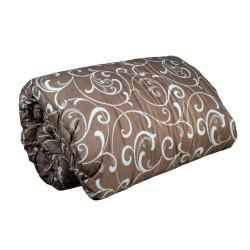Стилна олекотена завивка Долорес кафява