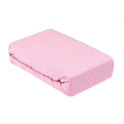 Памучен розов чаршаф с ластик