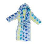 Памучен детски халат в синьо Pet