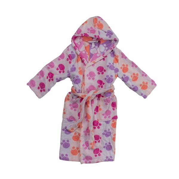 Памучен детски халат в розово Pet