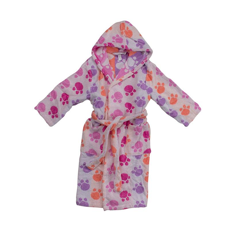 e4cf26e1cbb6e Памучен халат за баня за юноши Pet Pink