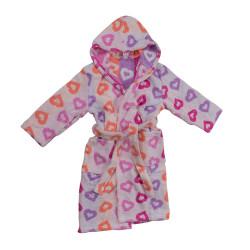 Памучен детски халат Цветно сърце