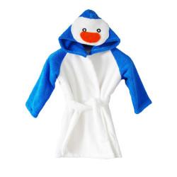 Памучен детски халат Синьо пингвинче