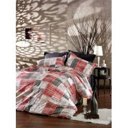 Памучен спален комплект Индустриал червено