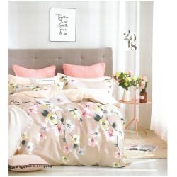 Спален комплект Мария - пролетни цветя - Памучен сатен