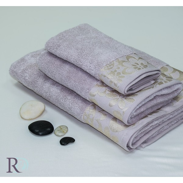 Памучна хавлиена кърпа Пудра