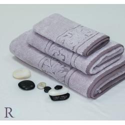 Памучна хавлиена кърпа Пудра 2