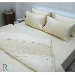 Модерен спален комплект с дантела Achinora Ivory