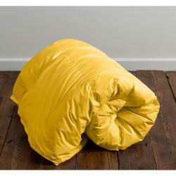 Стилна олекотена завивка в жълт цвят