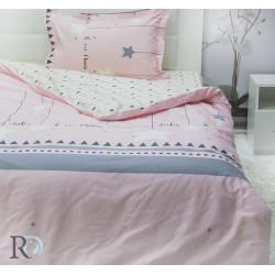 Памучен спален комплект за тийнейджъри Розова Сузи