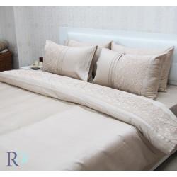 Модерен спален комплект с дантела Achinora Cappuccino