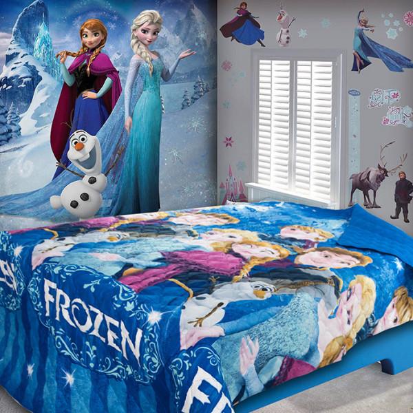 Детско покривало за легло Синьо кралство