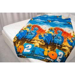 Микрофибърно детско покривало за легло Папагали