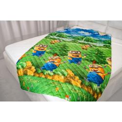 Микрофибърно детско покривало за легло с миньоните