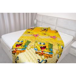 Микрофибърно детско покривало за легло Sponge Bob
