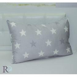 Стилна калъфка за възглавница в сиво - Звезди
