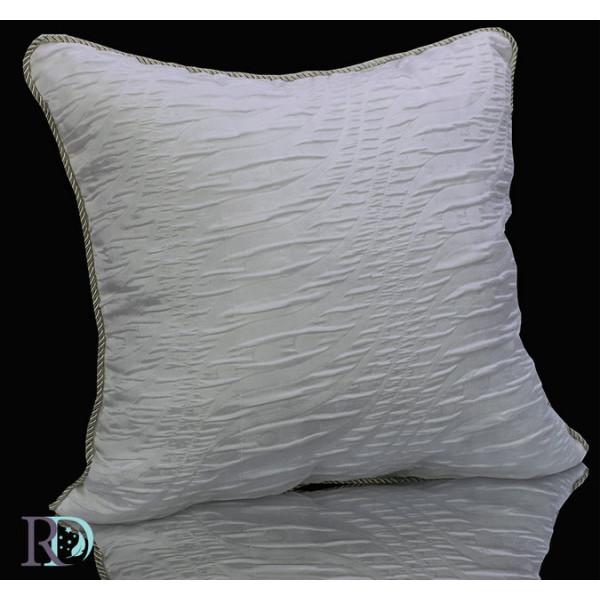 Бяла жакардова възглавница