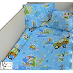 Памучно спално бельо за бебе Surfing