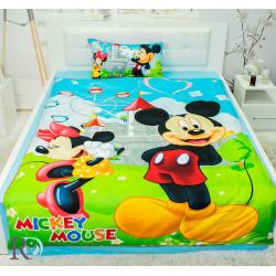 Детски спален комплект Веселият Мики - сатениран памук