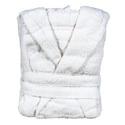 Памучен халат - Бял