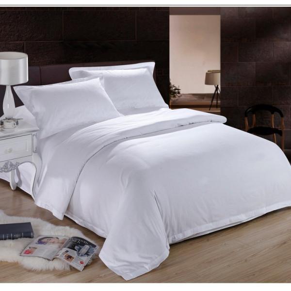 100% Памучно спално бельо Бяло