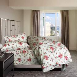 Дизайнерски спален комплект Цветна градина - 100% Памук