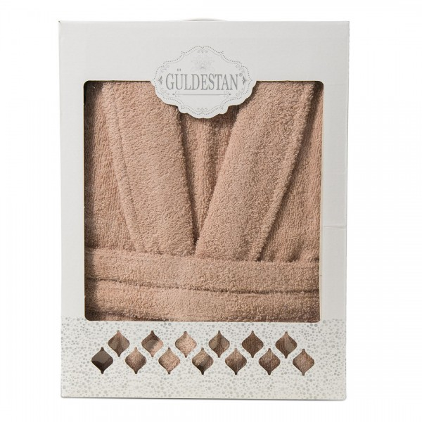 Памучен халат за баня - Стил беж
