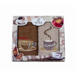 Сет хавлиени кърпи за кухня - Кафе