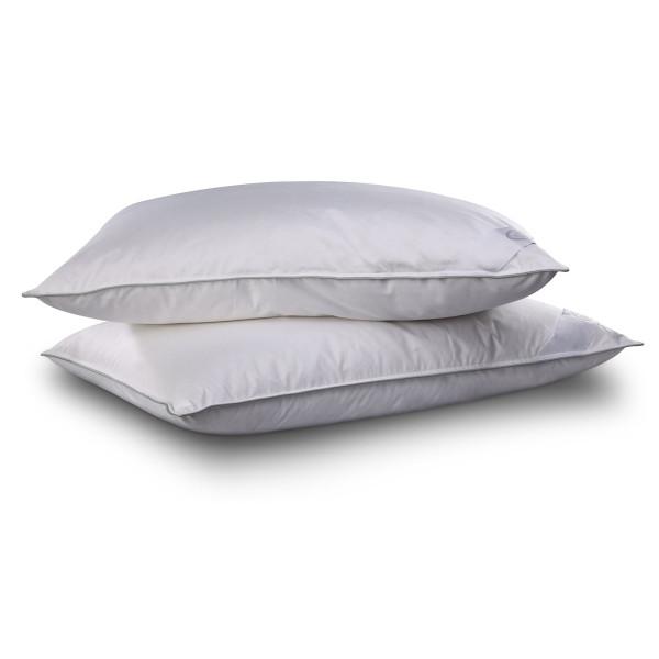 Комфортна възглавница с естествен пълнеж - сива